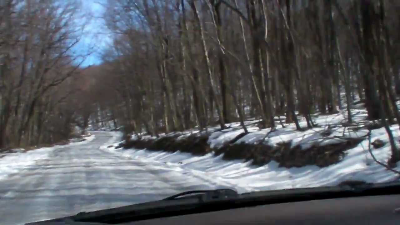 Winter Drive On Snow Covered Mountain Road Stock Footage Video ...