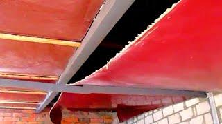 """""""Натяжной потолок"""" в гараже... из линолеума от doRABOTKA"""