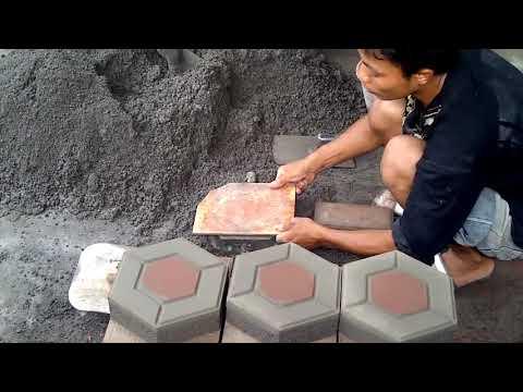 Тротуарная плитка своими руками. Сделано в Индии.