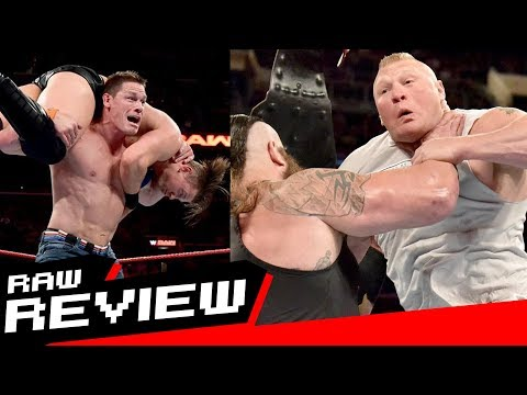 REVIEW-A-RAW 8/21/17: Cena Returns to Raw, Lesnar vs Strowman Set, Big Cass Injured