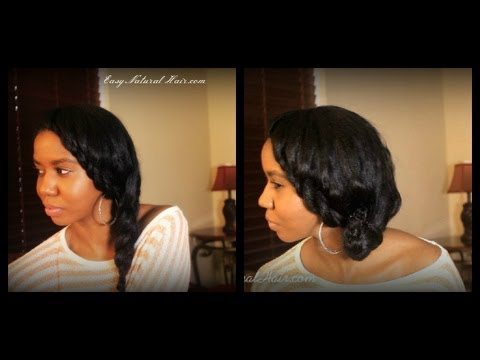 Flat Twist And Side Braid 2 In 1 Hairstyle On Straightened Natural