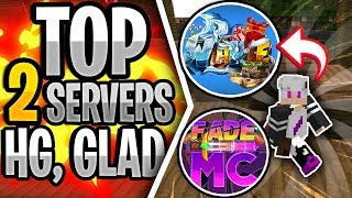 TOP 2 SERVERS DE HG/GLAD/1v1 ~ 1.7/ 1.8 (PIRATA E ORIGINAL) - Minecraft