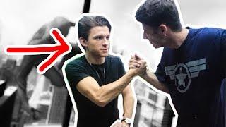 Ich habe Spiderman getroffen ! 😳 Tom Holland Meeting Spiderman