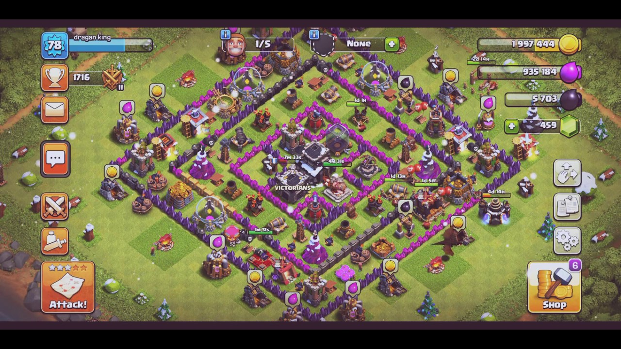 Best clan in the world in Clash of Clans which town hall 9 players reaching  legend