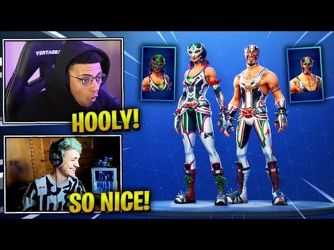 STREAMERS REACT TO *NEW* MASKED FURY & DYNAMO SKINS! - Fortnite Epic & Funny Moments (Fortnite BR)
