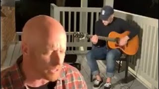 #Worshipontheporch with Todd Smith (#selah) and Daniel Carson (guitarist for #christomlin)