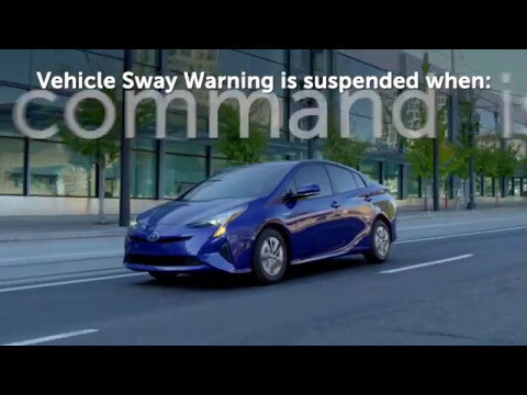 Know Your Toyota - Vehicle Sway Warning