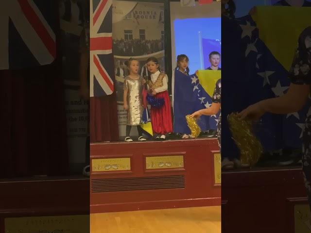 Nastup najmlađe grupe / prvačića bosanskohercegovačke dopunske škole Birmingham  30.11.2019
