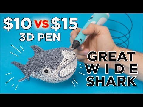 Testing the Cheapest 3D Pens // Great Wide Shark
