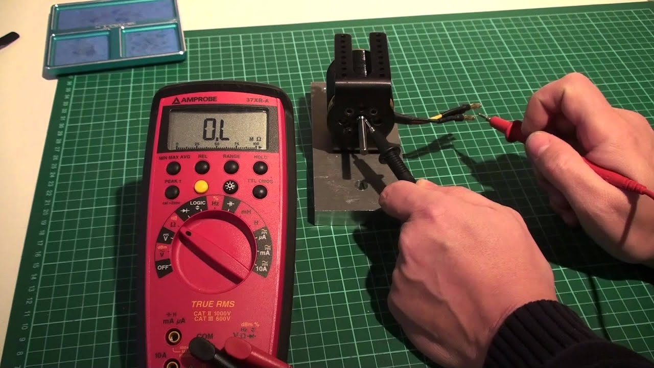 Motor insulation how to check your motor blowing esc for How to check ac motor