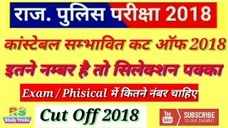 Rajasthan Police Constable Merit List Cut off Marks 2018 ।Rajasthan Police Final cut-off 2018