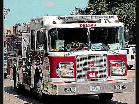 Fire engine emergency sirens - Sound effects