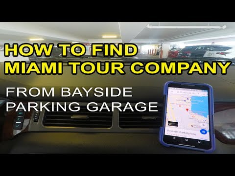 How To Find Miami Tour Company From The Bayside Parking Garage