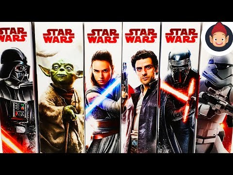 Star Wars The Last Jedi 12 Inch Darth Vader Rey Yoda Kylo Ren Poe First Order Stormtrooper Figures