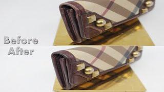 명품 지갑 수선]버버리 장지갑 염색 전후