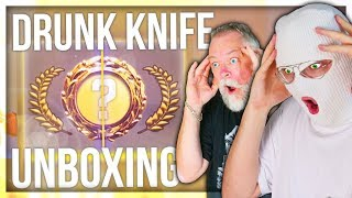 CS:GO DRUNK KNIFE UNBOXING WITH PAPA