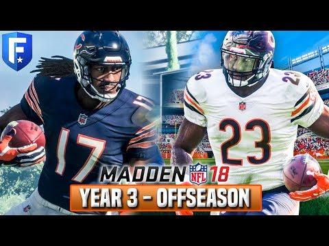 YEAR 3 FULL OFFSEASON STREAM! Madden 18 Bears Franchise | Ep.58