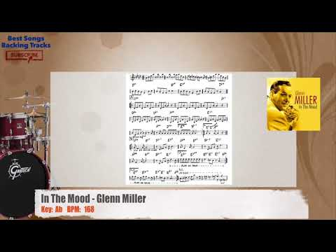 In The Mood - Glenn Miller Drums Backing Track with chords and lyrics