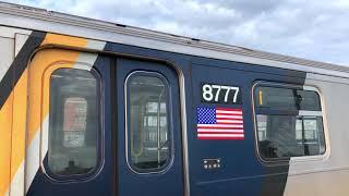 NYC Subway | Refurbished R160 (F) Trains @ Kings Hwy & Ave P