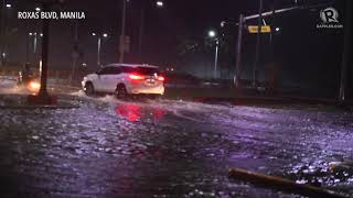 Typhoon Ompong: Wave surge, flooding along Roxas Boulevard