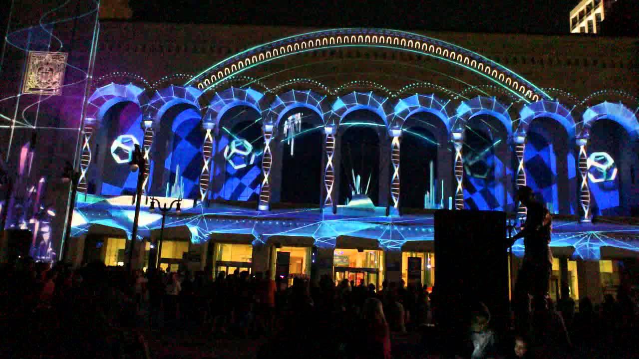 3D Light Show 3d laser light show at boardwalk hall, atlantic city, nj - youtube