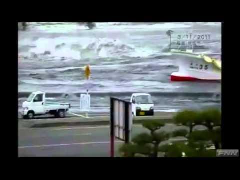 Tsunami in Soma, Fukushima Prefecture, Japan