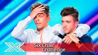 Christian Burrows and Matt Terry sing for their seats | Six Chair Challenge | The X Factor UK 2016 thumbnail