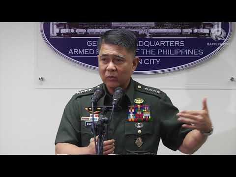 AFP chief Guerrero holds press conference on martial law, communist rebels