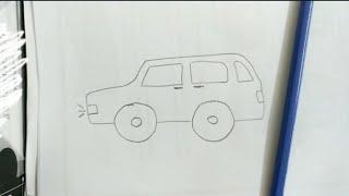 How to draw a car - Cách vẽ ô tô con