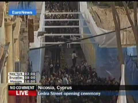Nicosia barrier replaced by Border Crossing - Live