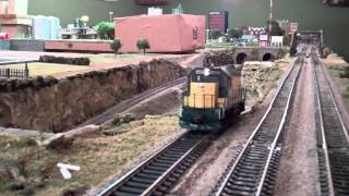 C&NW GP15-1 Takes A Steep Grade On My Friend