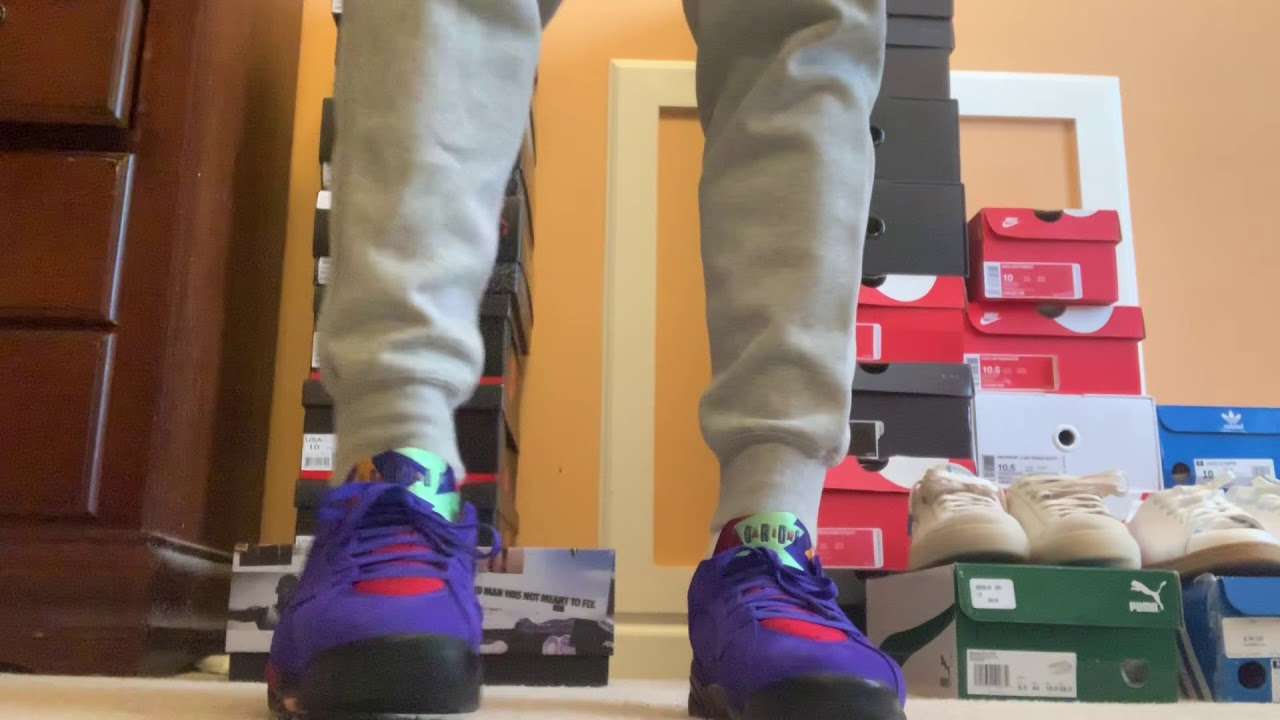 Jordan 7 low NRG on feet look - YouTube