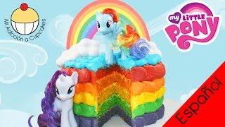 ¡TORTA ARCOÍRIS! Cómo Hacer una Torta de capas Arcoíris de Mi Pequeño Pony