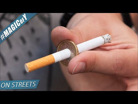 SMOKING cigarettes IS BAD - Magic of Y on streeets