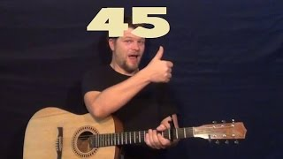 45 (Shinedown) Easy Guitar Strum Licks How to Play 45 Tutorial
