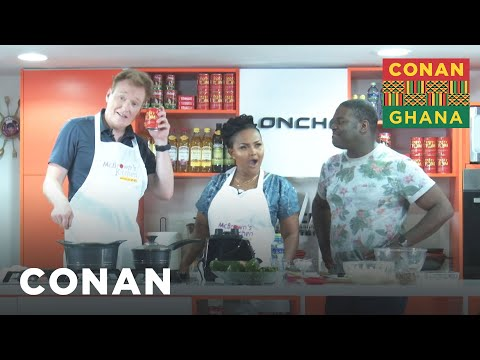 Conan & Sam Richardson Learn How To Cook Ghanaian Jollof Rice - CONAN on TBS