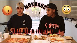 WHAT WOULD YOU DO IF..?|MUKBANG W/ MY GIRLFRIEND|GETS SERIOUS!|