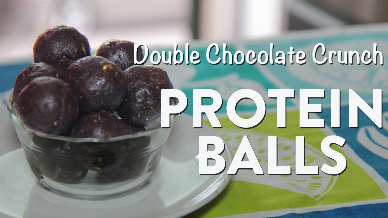 Easy Chocolate Crunch Protein Balls Recipe! - YouTube