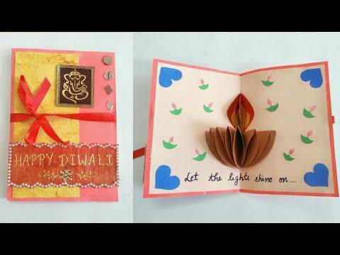 Diy Diwali Card How To Make Popup Diwali Card Popup Diya Card