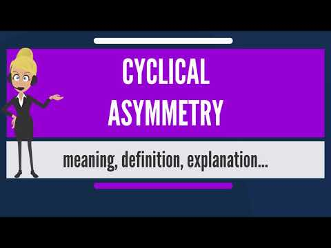 What is CYCLIC ASYMMETRY? What does CYCLIC ASYMMETRY mean? CYCLIC ASYMMETRY meaning & explanation