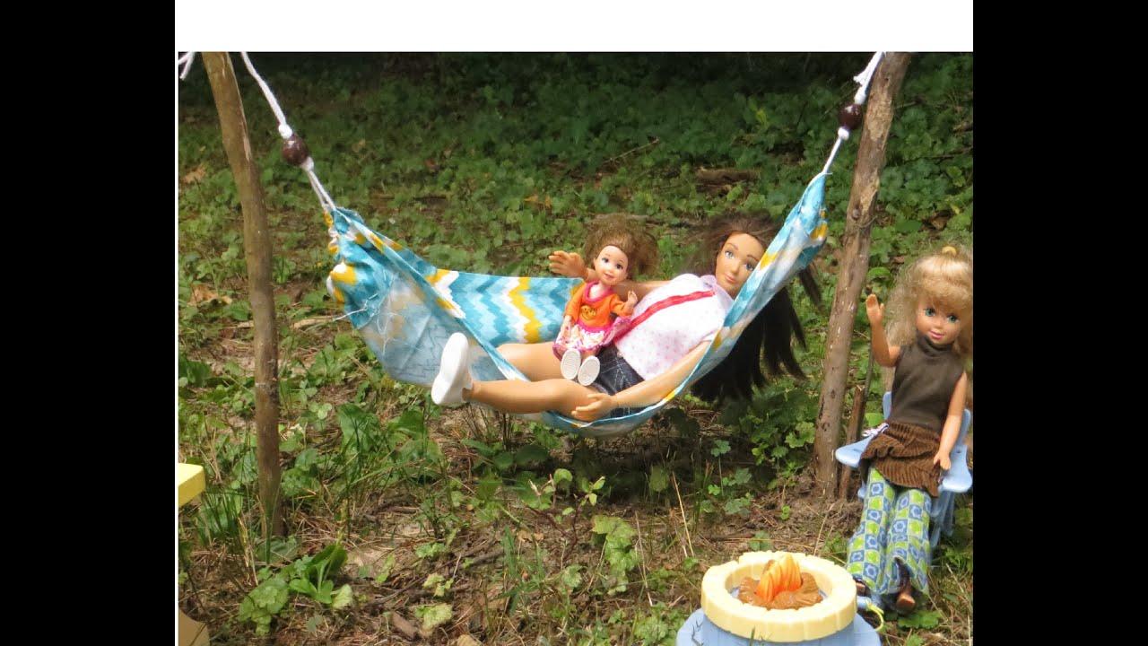C mo hacer una hamaca para mu ecas how to make a doll for Hamacas para el jardin