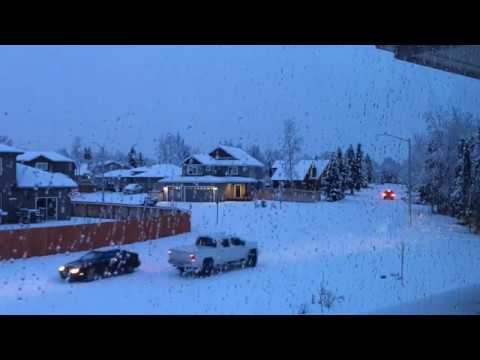 Snowing! - Anchorage Alaska - January 3rd 2018