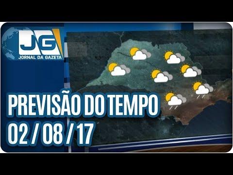 Previsão do Tempo - 02/08/2017
