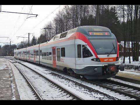 Поездка на эпг-002 от вокзала Минск-Пасссажирский до о.п. Лошица