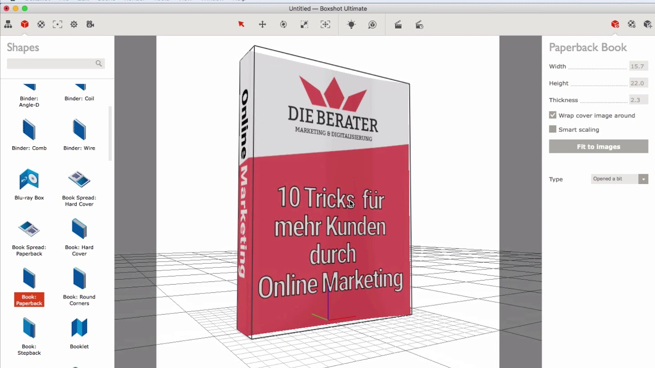 perfekte ebook 3d cover ganz easy erstellen german deutsch youtube. Black Bedroom Furniture Sets. Home Design Ideas
