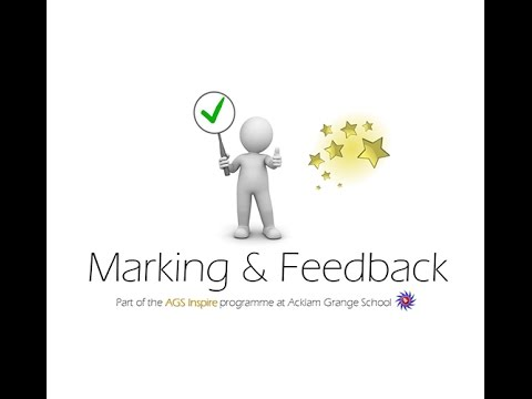 Marking And Feedback 'Flipped Masterclass' For AGS Inspire