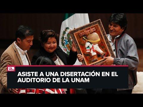 Interrumpen A Evo Morales Durante Conferencia En El Auditorio Ollin Yoliztli