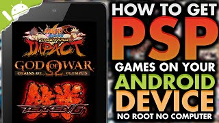 Android: How To Get PSP Games / ISOs on your Android Device! (NO COMPUTER) (NO ROOT)
