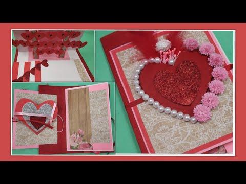 Beautiful Handmade Valentine's Day card idea|DIY Greeting Cards for Valentine's day card| Gift ideas
