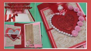 Beautiful Handmade Valentine's Day card idea DIY Greeting Cards for Valentine's day card  Gift ideas